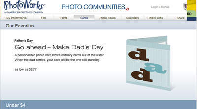 Father's Day photo gifts, cards and books