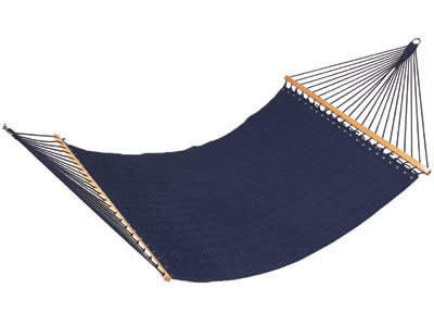 Navy Blue Quilted Fabric Hammock