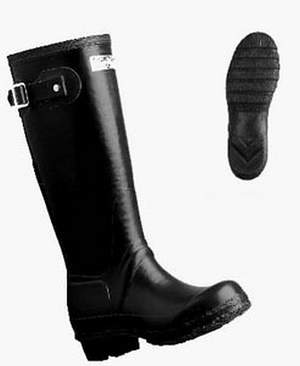 Black Hunter Brand Wellington Boots