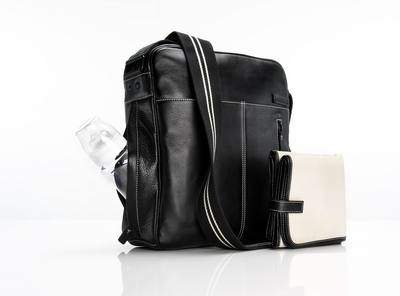 Storksak Jamie bag in Black (also available in Espresso)