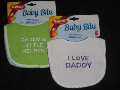 Embroidered Baby Bibs from PLAYSKOOL