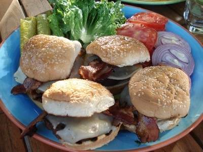 Grill these delicious Bacon Cheeseburgers for dad this Father's Day. Find these and additional recipes at www.InYourKitchen.com.