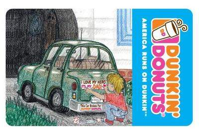 Winning design for Dunkin' Donuts' Father's Day gift cards