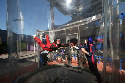 With a certified instructor, iFLY Hollywood provides a great experience for dad.