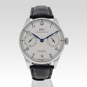 It's about time you treat dad to a gift that will stand the test of time, like this IWC Portoguese Automatic IW500107 Stainless Men's Watch available on www.portero.com.