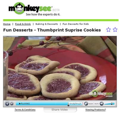 Thumbprint cookie on MonkeySee.com!