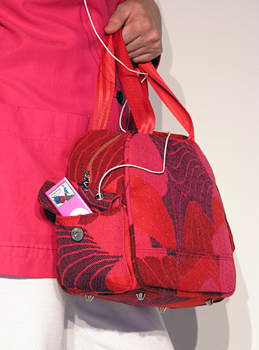 Jumpseat Bag-Touring Bag-SeaShells in Red