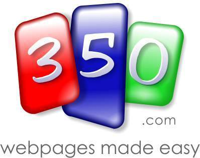 Create your own website at 350.com