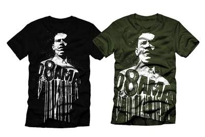 08 Obama Black and Green T-shirts