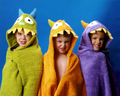 Your little monsters will love getting out of the water and into these comfortable plush towels.