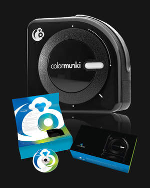 ColorMunki Photo with software and hardware