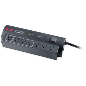 The APC Power-Saving SurgeArrest® is a highly efficient surge protector that provides home computer systems guaranteed protection from damaging surges and spikes. It can provide a combined savings of $25 per year on average as compared with competitors�