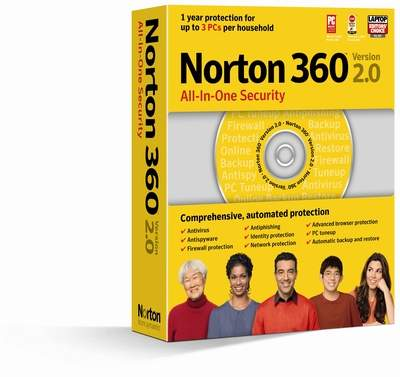 Box shot of Norton 360 v2.0