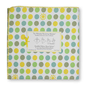 Green Polka Dot Ultimate Receiving Blanket