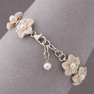 Mother-of-Pearl Sterling Silver Bracelet - Available at SmartBargains.com