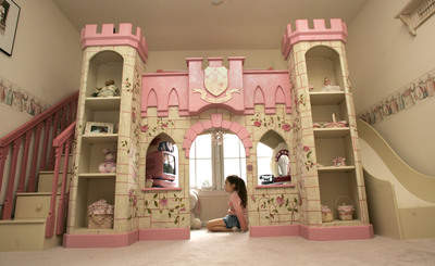 Girls Princess Castle Bed