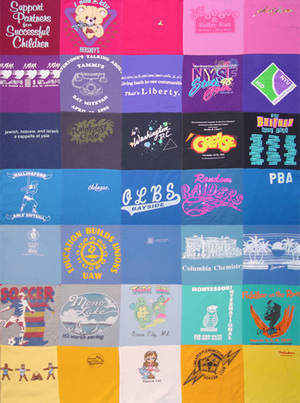 stitch'T - twin size custom T-shirt quilt