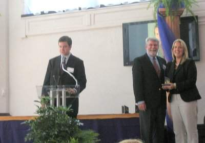 Margaret receiving St. Louis Business Journal award in July 2008