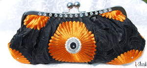 QuiQui Clutch, Black Licorice