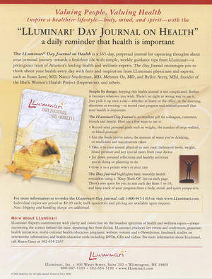 Day Journal for Health - with tips from Dr. Nancy Sndyerman, Dr. Mehmet Oz, Dr. Susan Love