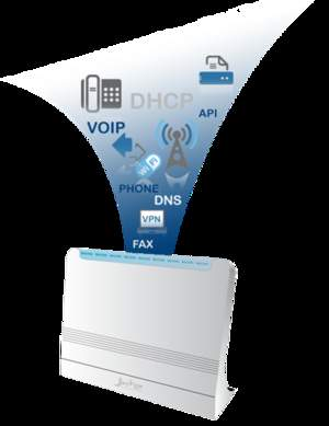 Jazinga is a complete small office or home office communications system that is easy to install.
