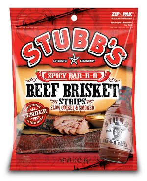 STUBB'S Beef Brisket and Jerky Snacks are now available!