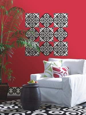 Tribeca from WallPops features removable, repositionable vinyl wall art showcasing the latest in fashion-forward designs, ready to update tired walls with a downtown vibe. The Tangier print is shown above.