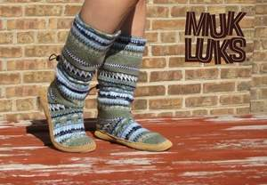 MUK LUKS® fairisle knit toggle boot