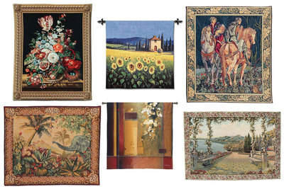 At GoShopUs.com, choose from hundreds of Jaquard woven tapestries and wall hangings in vibrant colors, from ancient art and fine art to medieval, religious and landscape themes. Save 10% off all purchases with coupon code, gsusavings.