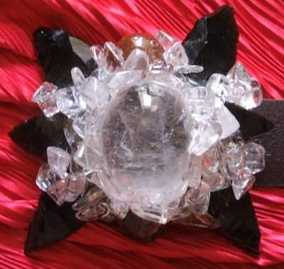 One of Kind Crystal Belt Buckel Design