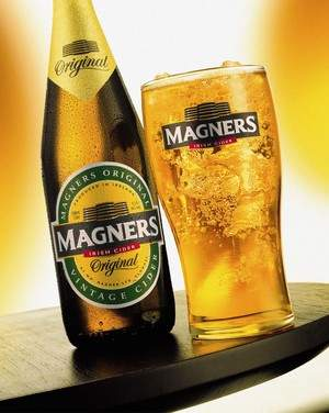 Magners served over ice offers unique refreshment