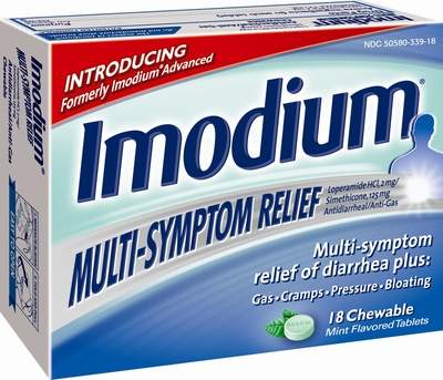 Imodium Multi-Symptom Relief chewables make it easy to stop going when you are on the go.