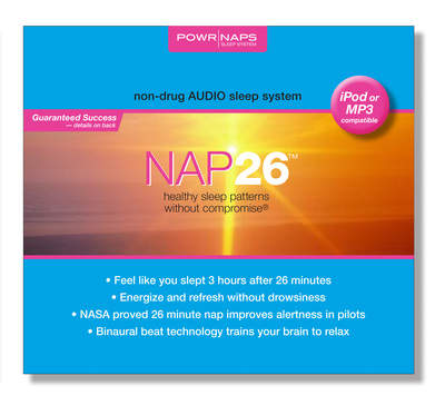 The NAP26 personal MP3 player helps you Rest, Relax, and Rejuvenate in 26 minutes.