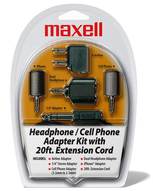 Maxell's HP-21 Heaphone & Cell Phone Adapter Kit