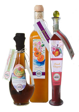 Pomegranate Vinegar, Apricot Vinegar and Peach Vinegar