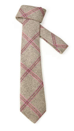 Gray & Lavender Wool Tie - Front