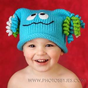 Lil' Monster Hat - Aqua
