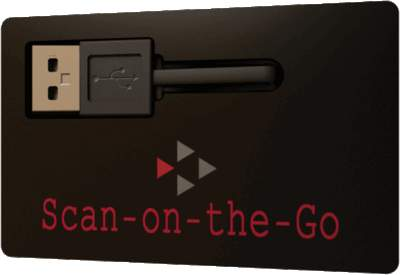 Scan-on-the-Go Secure Card