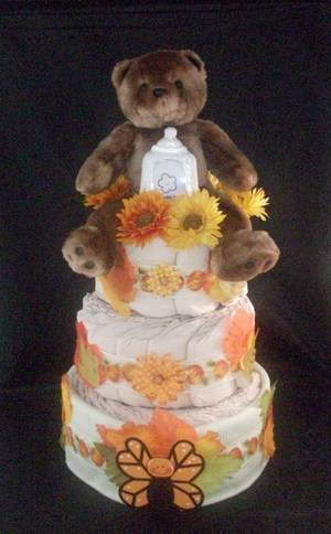 Fall Centerpiece Diaper cake