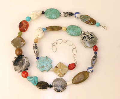 MULTI-STONE BELT OR NECKLACE