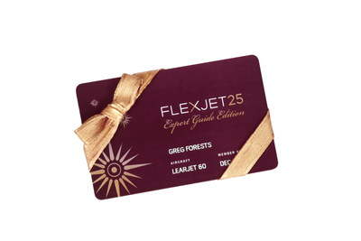 Flexjet 25 Expert Guide Edition Jet Card