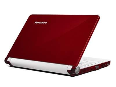 Red Lenovo IdeaPad S10 netbook