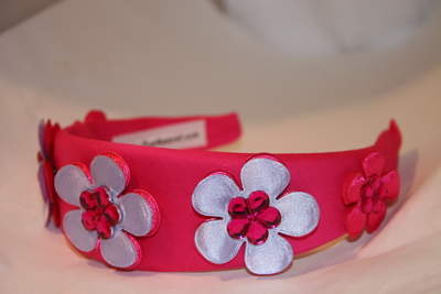 Hot Pink Headband with Purple and Fuchsia Nuneez