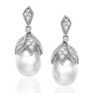 South Sea Pearl Earrings from Zeira