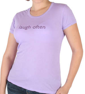 Laugh Often bamboo tee