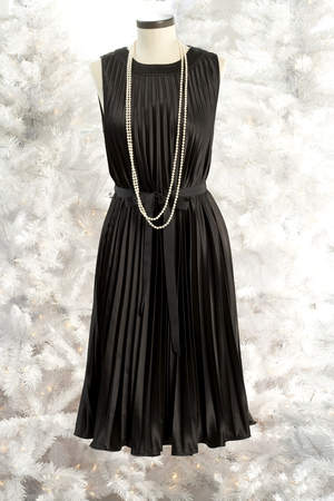 Metaphor Charmeuse Pleated Dress