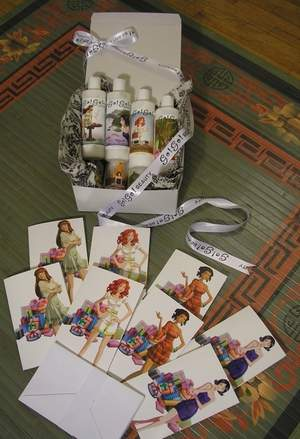 Go!Go! 8-lotion gift pack, cards included