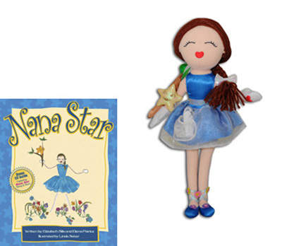 Nana Star Posable Doll with Nana Star Book & CD (Gift Set)