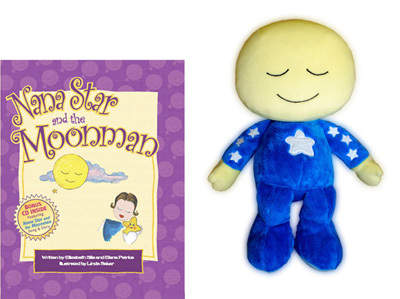 Moonman Lovey Plush with Nana Star and the Moonman Book (Gift Set)