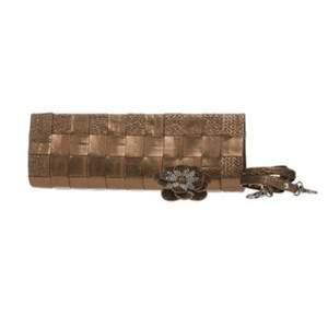 Bloom Clutch- Bronze (with detachable crystal brooch)